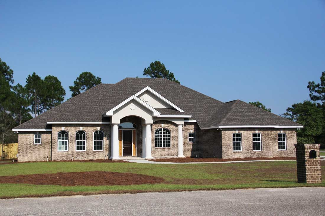 Black custom home by Acorn Construction in Navarre