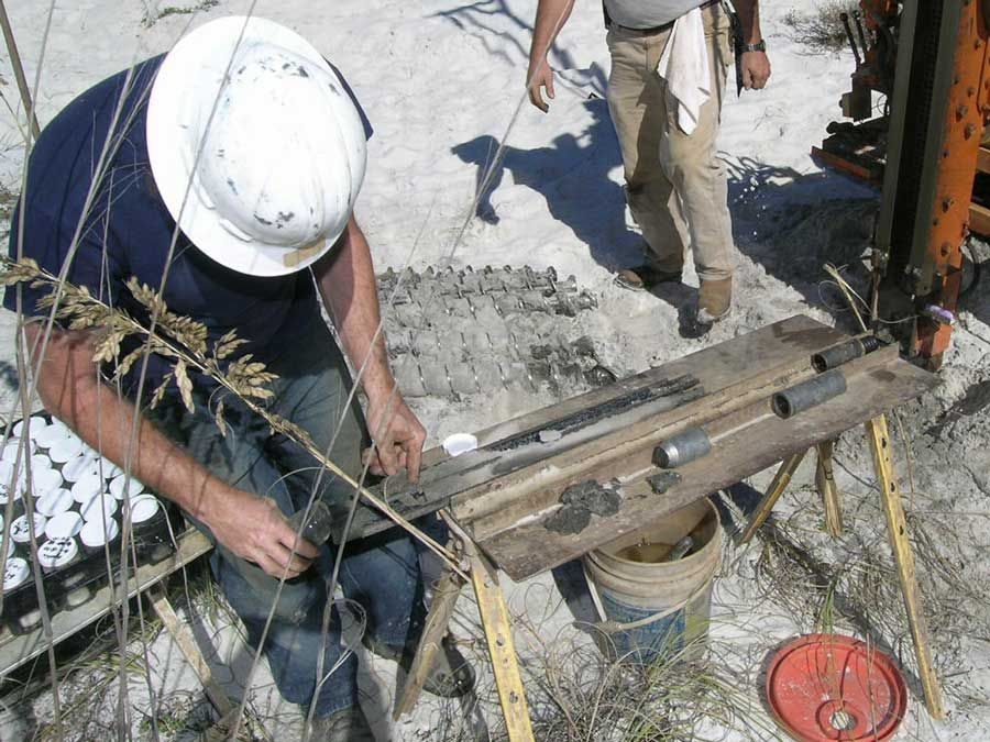 Geotechnical sample for Acorn Construction on Navarre Beach