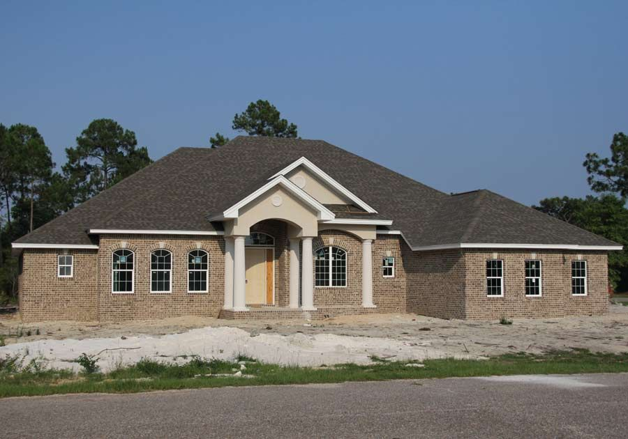 Black custom home in Navarre