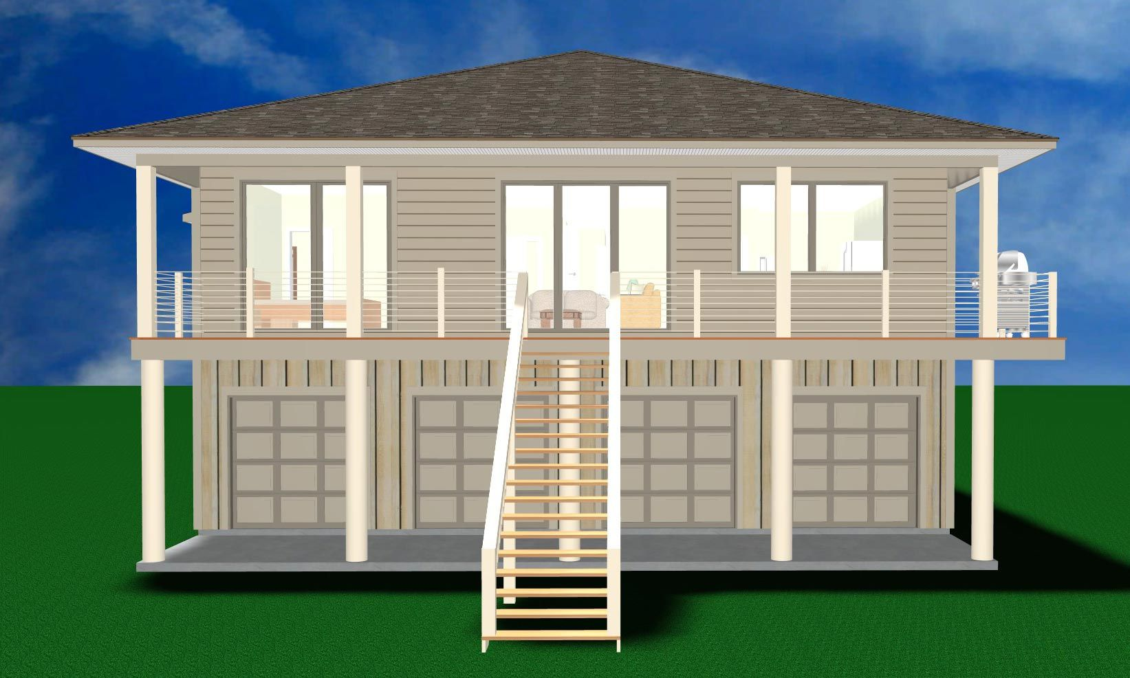 Nauman piling home in Gulf Breeze by Acorn Fine Homes
