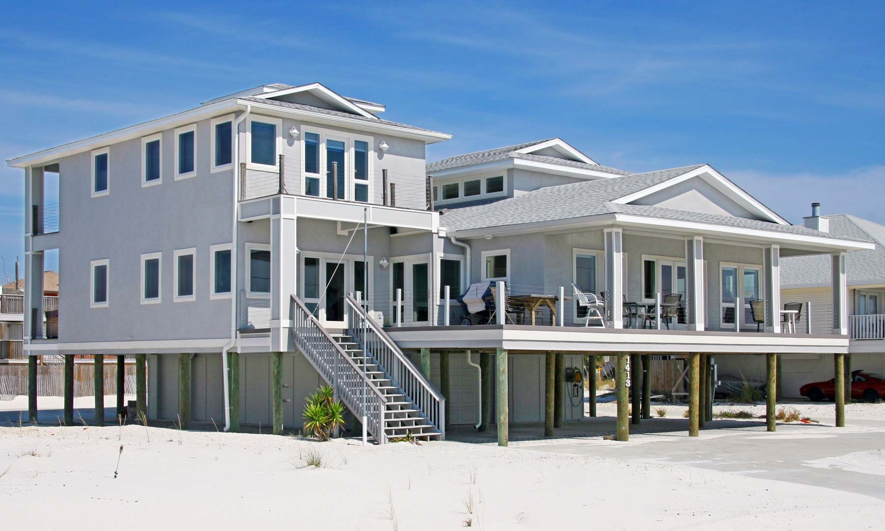 Sloan residence on Pensacola Beach by Acorn Fine Homes