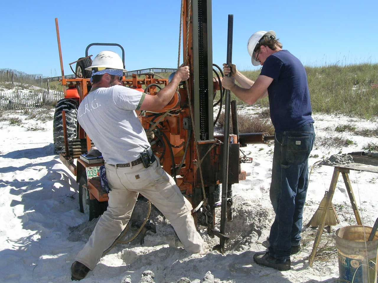 Core drilling for Acorn Construction on Navarre Beach