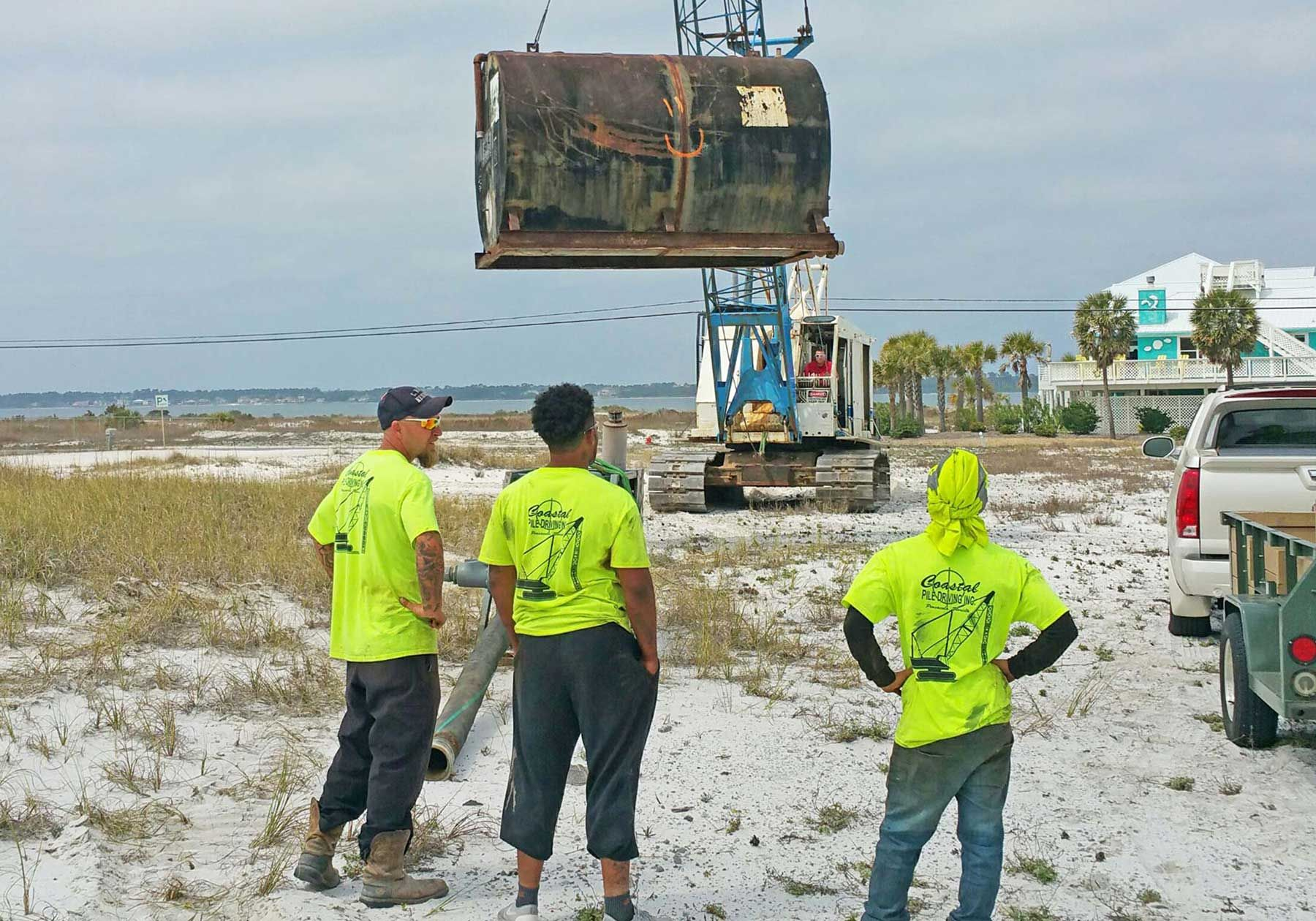 Frerich concrete piling home on Navarre Beach