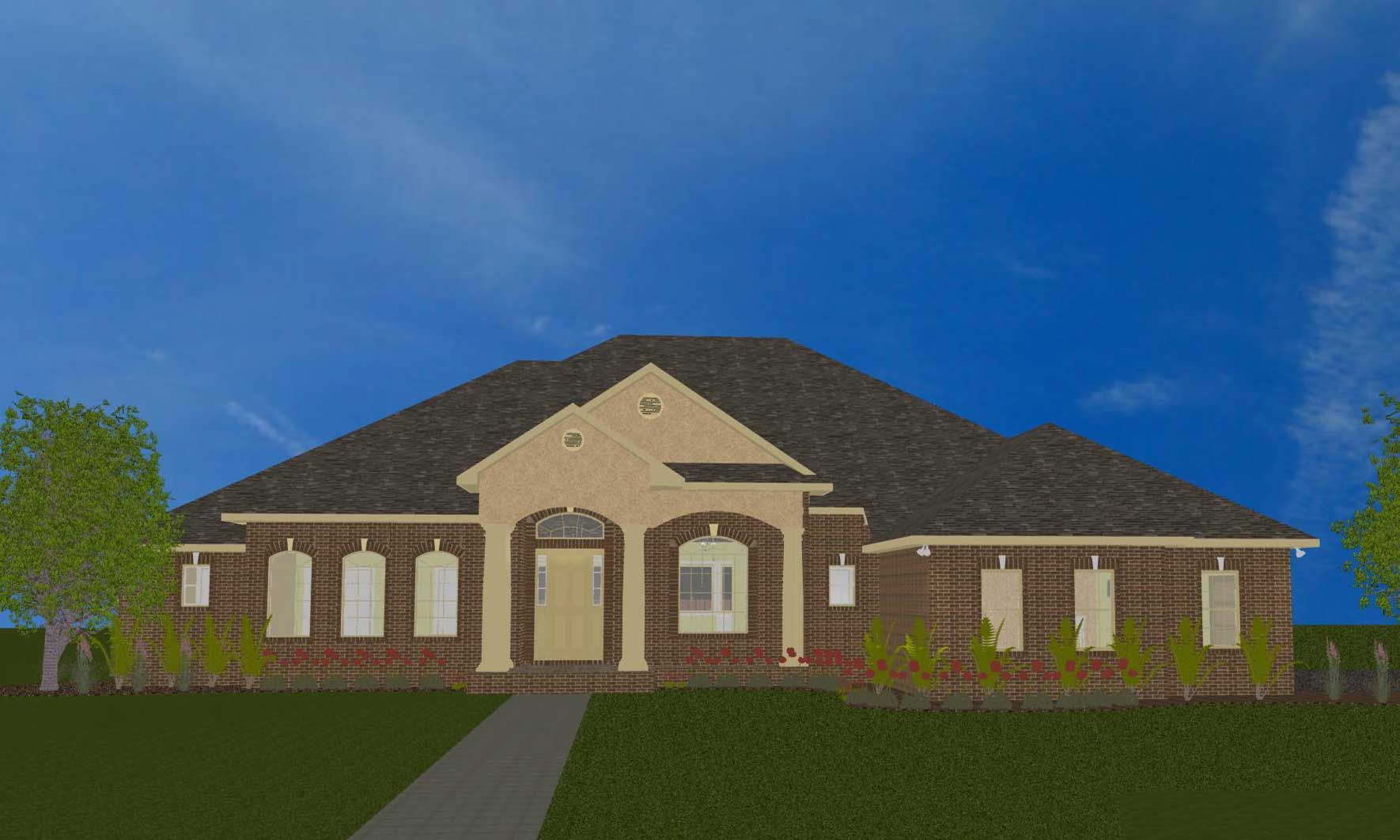 Black job front elevation CAD model